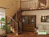 Лестница деревянная К-009м
