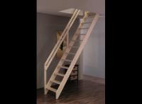 Лестница деревянная М-12у с поручнем