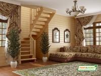 Лестница деревянная К-003м