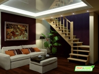 Лестница деревянная К-031м