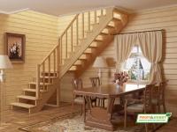 Лестница деревянная К-002м