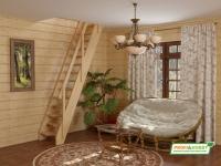 Лестница деревянная К-007м