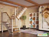 Лестница деревянная К-032м