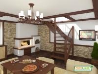 Лестница деревянная ЛС-09м