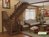 Лестница деревянная К-021м