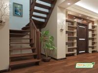 Лестница деревянная К-033м