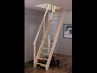 Лестница деревянная М-11у с поручнем