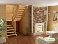 Лестница деревянная К-004м