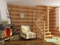 Лестница деревянная К-005м