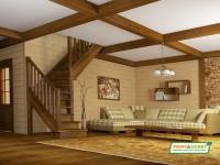 Лестница деревянная ЛС-225м