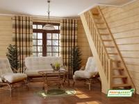 Лестница деревянная ЛС-10м