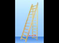Лестница деревянная М-13у без поручня