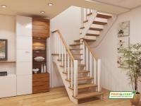 Лестница деревянная К-034м