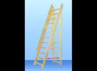 Лестница деревянная М-13у с поручнем