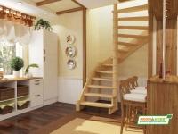 Лестница деревянная ЛС-01м