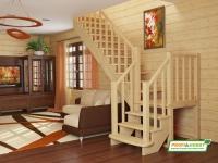 Лестница деревянная К-022м