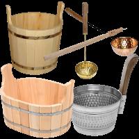 Ковши, веники и бондарные изделия